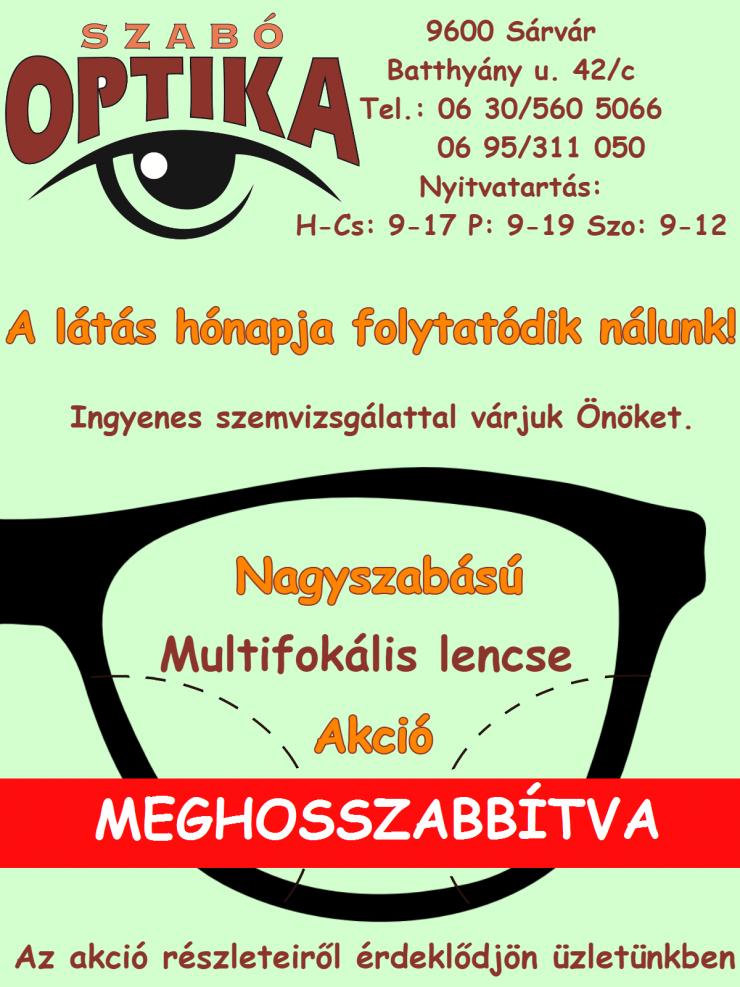 """Folytatódik a látás hónapja! – """"Szabó Optika 880d28d9df"""